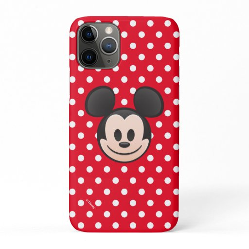 Mickey Mouse Emoji with Polka Dots iPhone 11 Pro Case