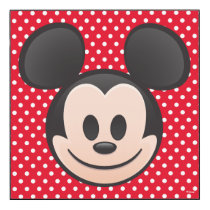 Mickey Mouse Emoji Wood Wall Art