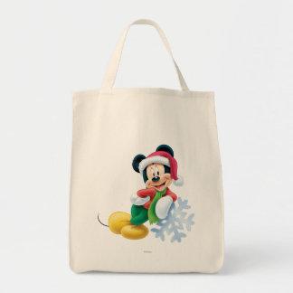 Mickey Mouse en el copo de nieve Bolsa Lienzo