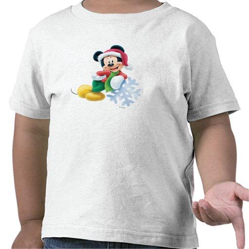 Mickey Mouse en el copo de nieve Camiseta