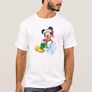 Mickey Mouse en el copo de nieve Playera