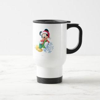 Mickey Mouse en el copo de nieve Taza De Viaje De Acero Inoxidable