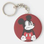 Mickey Mouse enojado Llaveros
