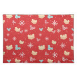 Mickey Mouse | Festive Christmas Pattern Cloth Placemat