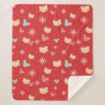 Mickey Mouse | Festive Christmas Pattern Sherpa Blanket