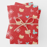 Mickey Mouse | Festive Christmas Pattern Wrapping Paper Sheets