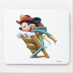 Mickey Mouse Fireman on Ladder Mouse Pads