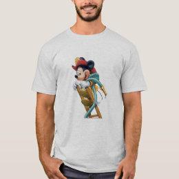Mickey Mouse Fireman on Ladder T-Shirt