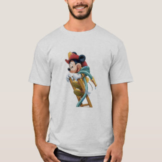 Mickey Mouse Fireman on Ladder T-Shirt