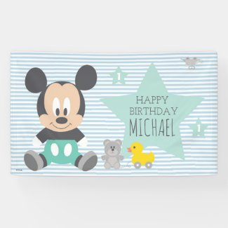 Mickey Mouse | First Birthday Banner