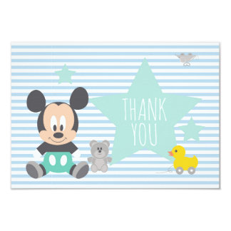 Mickey Mouse | First Birthday Thank You Card