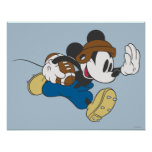 Mickey Mouse Football Player 4 Print