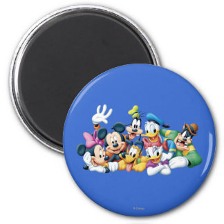 Mickey Mouse & Friends 5 2 Inch Round Magnet