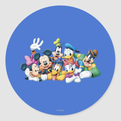 Mickey Mouse & Friends 5 Round Sticker