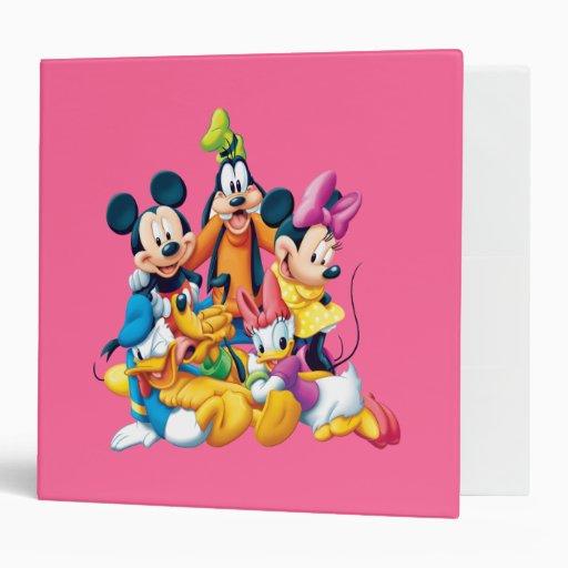 Mickey Mouse & Friends 6 Vinyl Binders
