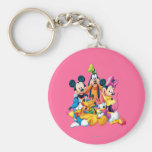 Mickey Mouse & Friends 6 Basic Round Button Keychain