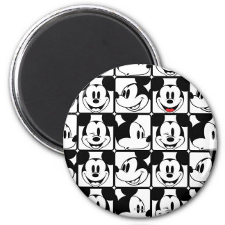 Mickey Mouse | Grid Pattern 2 Inch Round Magnet