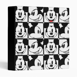 Mickey Mouse | Grid Pattern 3 Ring Binder
