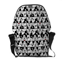 Mickey Mouse | Grid Pattern Courier Bag