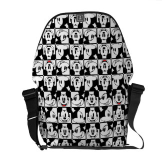 Mickey Mouse   Grid Pattern Courier Bag