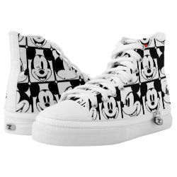 High Top Shoes with Mickey Mouse Patterns design
