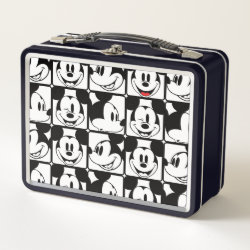 Metal Lunch Box with Mickey Mouse Patterns design