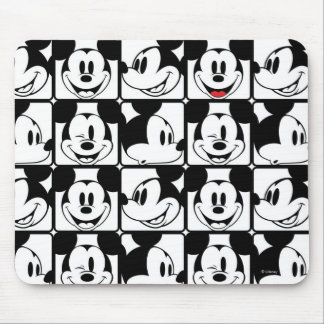 Mickey Mouse | Grid Pattern Mouse Pad