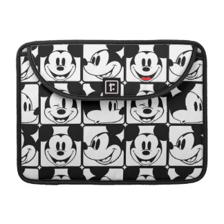 Mickey Mouse | Grid Pattern Sleeves For MacBooks