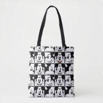 Mickey Mouse | Grid Pattern Tote Bag