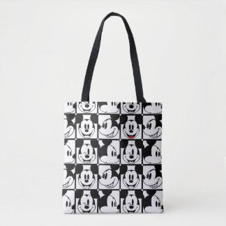 Mickey Mouse   Grid Pattern Tote Bag