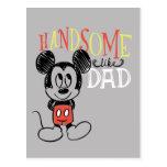Mickey Mouse | Handsom Like Dad Postcard
