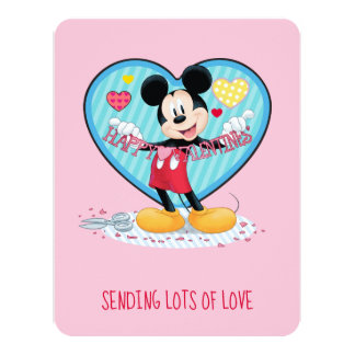 Mickey Mouse | Happy Valentines Day Cutout Card