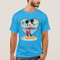 Mickey Mouse | Happy Valentines Day Cutout T-Shirt
