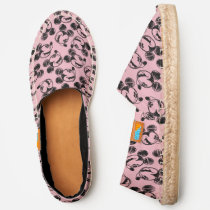 Mickey Mouse Head | Pink Sketch Pattern Espadrilles