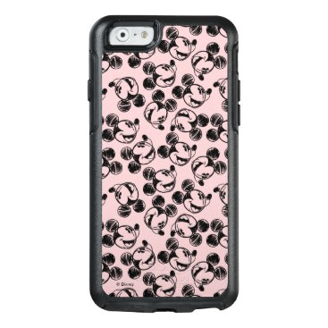 Mickey Mouse Head   Pink Sketch Pattern OtterBox iPhone 6/6s Case