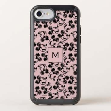Mickey Mouse Head   Pink Sketch Pattern Speck iPhone Case
