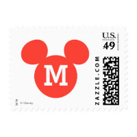 Mickey Mouse Head Silhouette | Red Postage