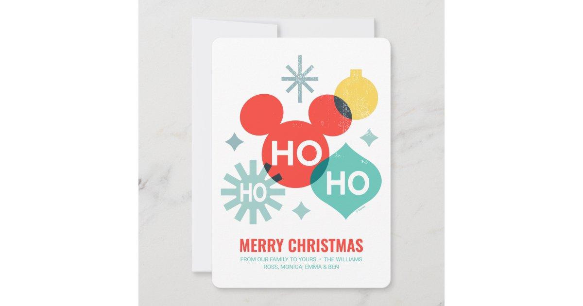 Ho Ho Ho Merry Christmas.Mickey Mouse Ho Ho Ho Merry Christmas Holiday Card Zazzle Com