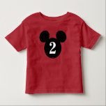 """Mickey Mouse   Icon Birthday Toddler T-shirt<br><div class=""""desc"""">Oh Toodles! Celebrate your child&#39;s birthday with this Mickey Mouse Icon shirt. Customize by adding your child&#39;s age.</div>"""