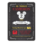 Mickey Mouse Icon Chalkboard Card