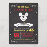 "Mickey Mouse Icon Chalkboard Invitation<br><div class=""desc"">Invite all your family and friends to your child's Mickey Mouse themed Birthday Party with these chalkboard birthday invitations. Personalize by adding your party details.</div>"