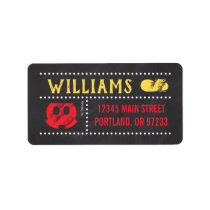 Mickey Mouse Icon Chalkboard Label