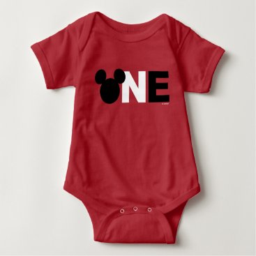 Disney Themed Mickey Mouse | Icon First Birthday Baby Bodysuit