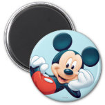 Mickey Mouse Laying Down 2 Inch Round Magnet