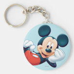 Mickey Mouse Laying Down Basic Round Button Keychain