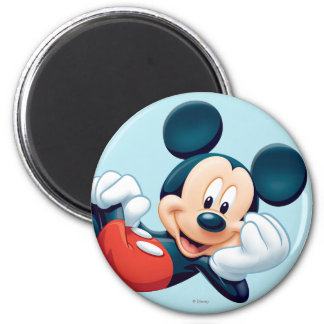 Mickey Mouse Laying Down Fridge Magnet