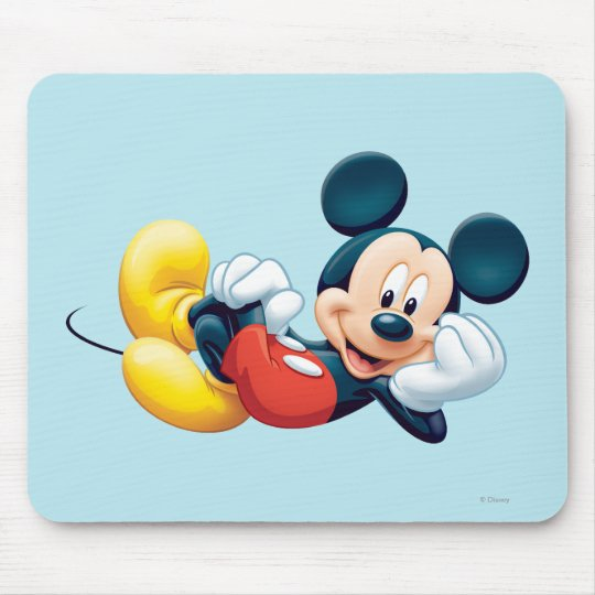 Mickey Mouse Laying Down Mouse Pad