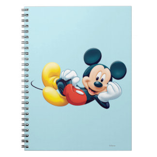 Mickey Mouse Laying Down Notebook