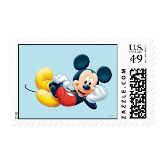 Mickey Mouse Laying Down Postage