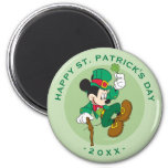 Mickey Mouse - Leprechaun  St. Patrick's Day 2 Inch Round Magnet